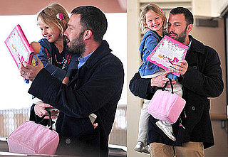 Pictures of Ben Affleck Picking Up Daughter Violet From School in LA