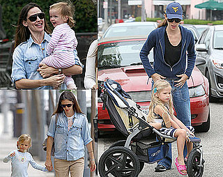Pictures of Jennifer Garner, Violet and Seraphina Affleck in LA 2010-06-07 13:30:00
