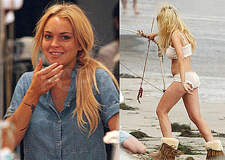 Pictures of Lindsay Lohan Shopping and Wearing a Bikini in Her Vogue Photo Shoot