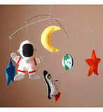 Outer Space Adventure Baby Mobile