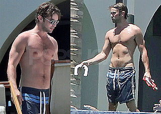 Pictures of Chace Crawford Shirtless in Mexico with Tony Romo