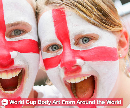 World Cup Wildness: 10 Patriotically Painted Fans From Around the World