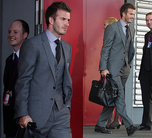 Pictures of David Beckham In a Suit Going to the World Cup in South Africa