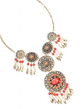Guess Ethnic Charm Navajo Necklace