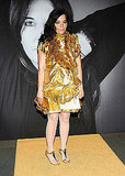 Bjork shined majorly bright in a gold Givenchy from Fall '08.