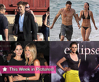 Pictures of Robert Pattinson Filming Water For Elephants, Megan Fox Bikini, Kristen Stewart Promoting Eclipse, Jennifer Aniston