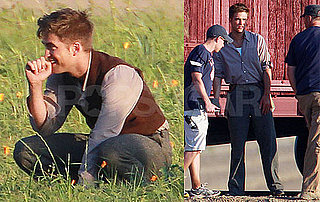 Pictures of Robert Pattinson Filming Water For Elephants 2010-06-04 06:00:27