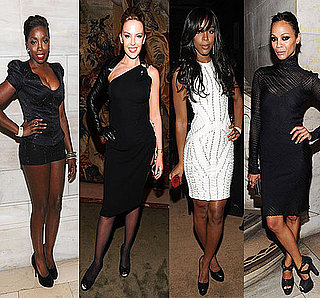 Photos of Kelly Rowland, Kylie Minogue, Zoe Saldana, and Estelle