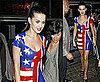 Pictures of Katy Perry Wearing UK / USA Flag Dress