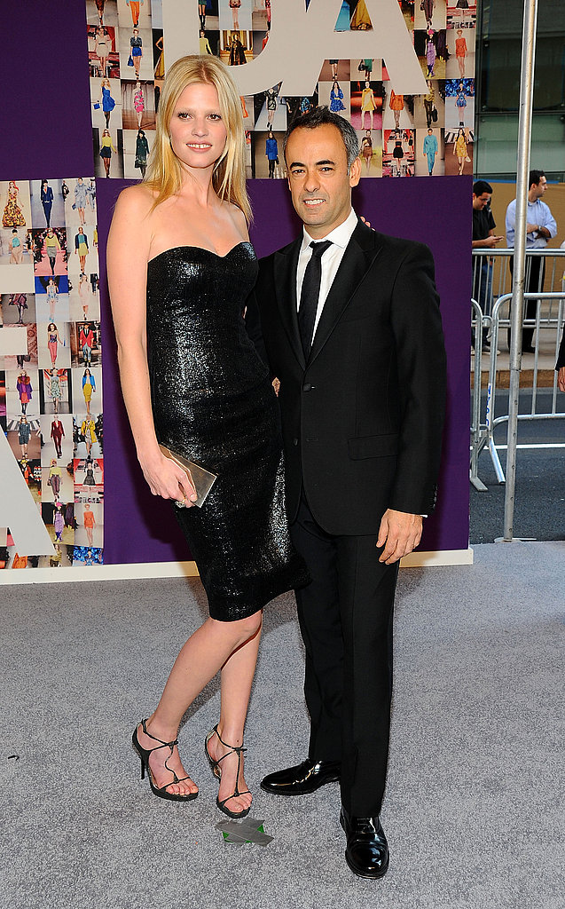 Lara Stone in Calvin Klein with Francisco Costa