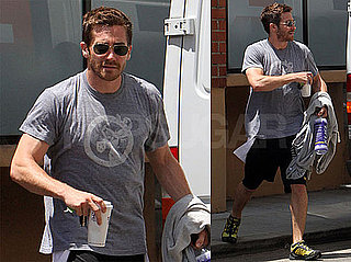 Pictures of Jake Gyllenhaal Leaving Tracy Anderson's LA Studio