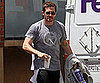 Slide Picture of Jake Gyllenhaal Leaving Tracy Anderson Gym in LA