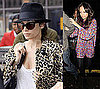 Pictures of Nicole Richie Wearing a Leopard Coat as She Arrives in London
