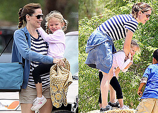 Pictures of Jennifer Garner with Violet at Park