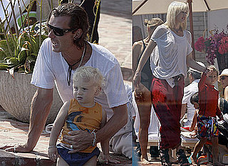 Pictures of Gwen Stefani, Gavin Rossdale, Kingston Rossdale, and Zuma Rossdale Together in LA