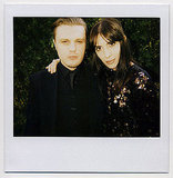 Michael Pitt and Jamie Bochert mug for the CFDA cam.