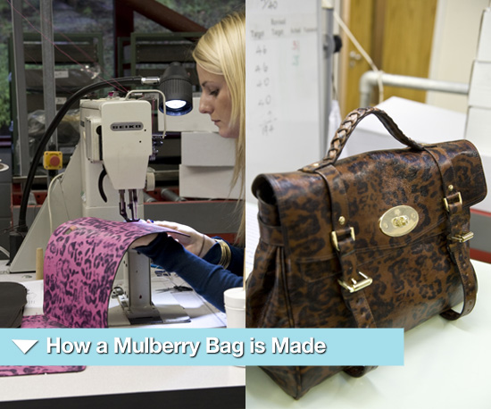 Photos of How a Mulberry Alexa is Made at a Factory in Somerset 2010-06-09 11:25:00