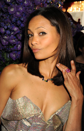 Photos of Thandie Newton Wearing Colored Jewels