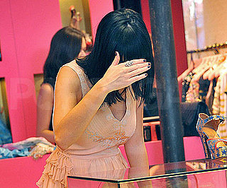 Guess Who's Shopping in a Flirty Pink Dress?