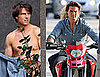 Pictures of Shirtless Tom Cruise Shooting an ESPN Commercial With Knight And Day Costar Cameron Diaz