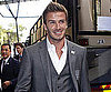 Picture of David Beckham Wearing a Suit in South Africa