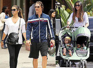 Pictures of Matthew, Levi, and Vida McConaughey With Camila Alves
