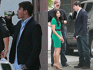 Pictures of Channing Tatum annd Jenna Dewan on Set in LA