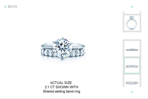 Photos of the Tiffany & Co. Engagement Ring Finder App
