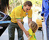 Slide Picture of Matthew McConaughey and Levi Wearing Brazil Gear For World Cup