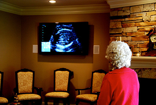 Project the Sonogram as Decoration 
