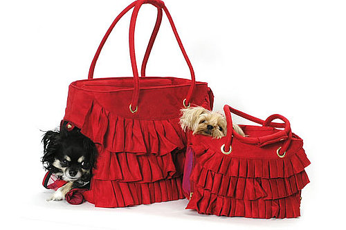 Red Ruffled Dog Carrier