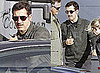 Pictures of Clive Owen Filming The Killer Elite With a Mustache