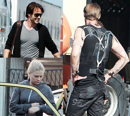 Pictures of Alexander Skarsgard, Anna Paquin, Stephen Moyer Filming True Blood Season 3 Finale