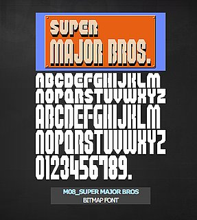 Vintage Video Game Fonts