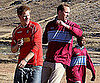 Slide Picture of Prince William and Prince Harry Playing Soccer in Lesotho