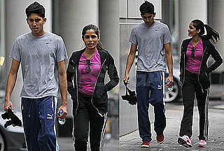 Pictures of Freida Pinto And Dev Patel Together After a Workout in Montreal