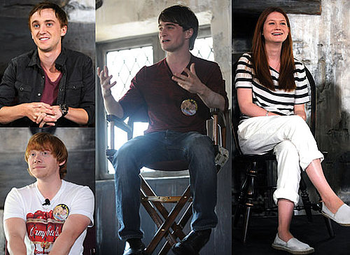 Pictures of Harry Potter Cast at Wizarding World Press Conf Bonnie Wright, Daniel Radcliffe, Rupert Grint, Tom Felton 2010-06-20 16:30:05