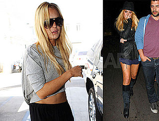 Pictures of Lindsay Lohan Shopping With Her New Assistant in LA