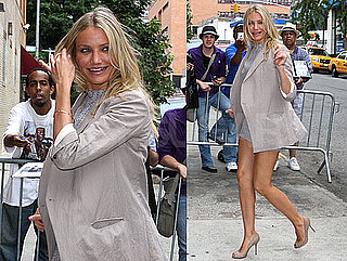 Pictures of Cameron Diaz in a Short Skirt Arriving to Tape The Daily Show in NYC