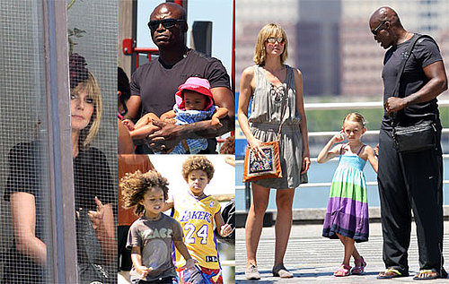 Pictures of Heidi Klum With Seal and Their Children Playing in NYC