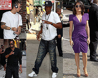 Pictures of Salma Hayek, Jay-Z, Diddy, and Eminem on The Late Show With David Letterman 2010-06-22 09:15:00