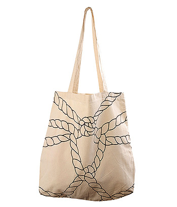Forever 21 Printed Ropes Tote ($6)
