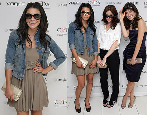 Pictures if Jessica Szohr, Alexis Bledel and Emmy Rossum Showing Off Sunglasses in New York City 2010-06-23 19:00:31