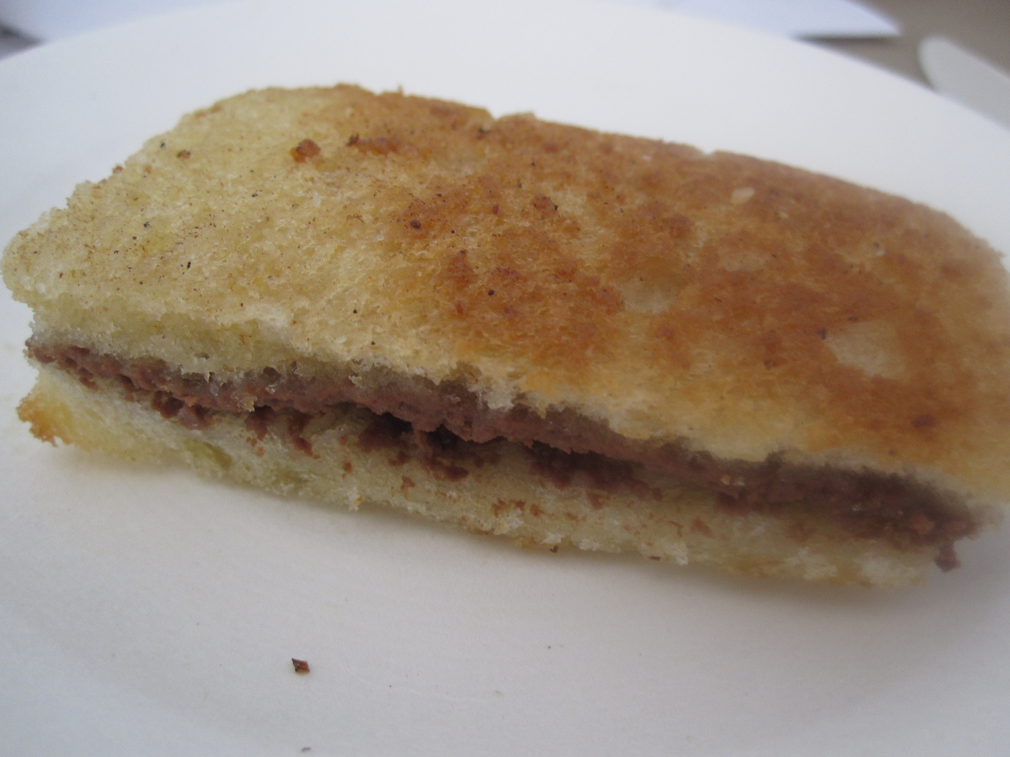 The final sandwich was a dainty dessert sandwich with goat cheese and nutella. Amazing!