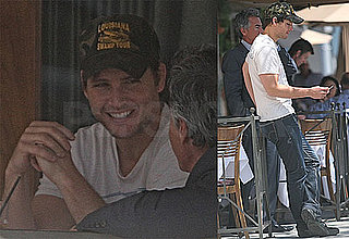 Pictures of Peter Facinelli Smoking at Lunch in LA