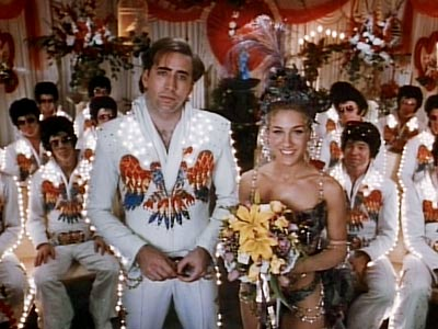 Love this marriage scene. So Vegas, so glitzy, so funny. Note the Elvis impersonators in the back.