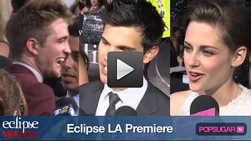 Exclusive Eclipse Red Carpet Video: Rob and Kristen Couple Up, Kellan Shows His Calvins, and Why Vamps Are So Hot!