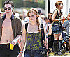 Pictures of Harry Potter Star Emma Watson with George Craig at Glastonbury Festival