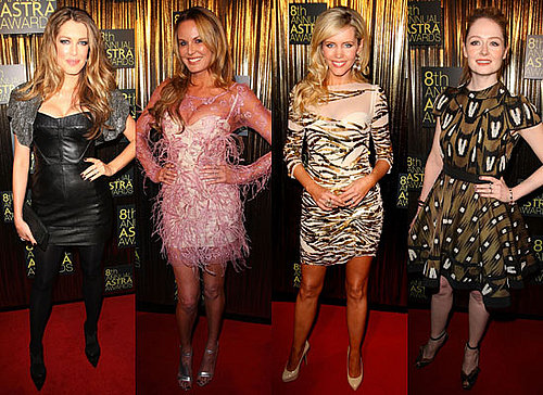 Australian Celebrities on the Red Carpet at the 2010 Astra Awards