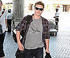 Slide Picture of Xavier Samuel Leaving LAX Heading to London